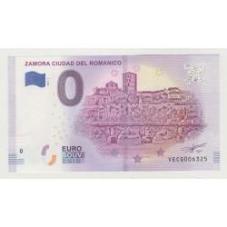 SPAIN - TOURISTIC 0 EURO SOUVENIR NOTE - ZAMORA CIUDAD DEL ROMANICO - 2019