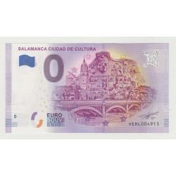 SPAIN - TOURISTIC 0 EURO SOUVENIR NOTE - SALAMANCA CIUDAD DE CULTURA - 2019