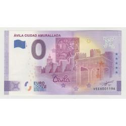 SPAIN - TOURISTIC 0 EURO SOUVENIR NOTE - AVILA CIUDAD AMURALLADA - 2021