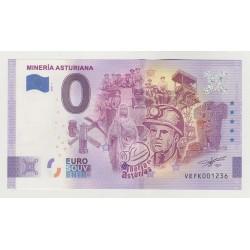 SPAIN - TOURISTIC 0 EURO SOUVENIR NOTE - MINERIA ASTURIANA - 2021