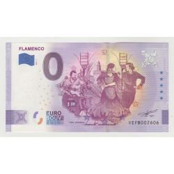 SPAIN - TOURISTIC 0 EURO SOUVENIR NOTE - FLAMENCO - 2021 - ANNIVERSARY