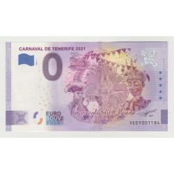 SPAIN - TOURISTIC 0 EURO SOUVENIR NOTE - CARNAVAL DE TENERIFE - 2021