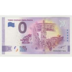 SPAIN - TOURISTIC 0 EURO SOUVENIR NOTE - TORO CIUDAD ENOLOGICA - 2021