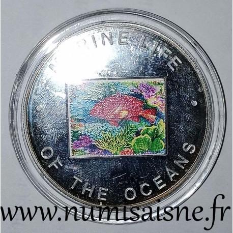 UGANDA - KM 113 - 1,000 SHILLING 2002 - Red fish