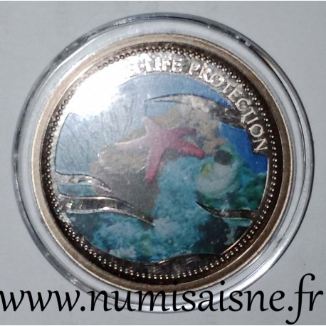 PALAU - KM 256 - 1 DOLLAR 2003 - RED STAR FISH