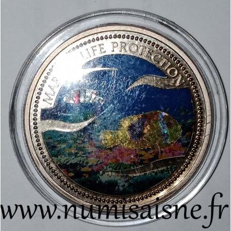 PALAU - KM 67 - 1 DOLLAR 2003 - Fische