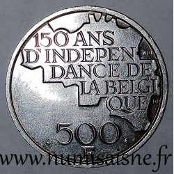 BELGIUM - KM 161a - 500 FRANCS 1980 - 150 YEARS OF INDEPENDENCE - FRENCH LEGEND