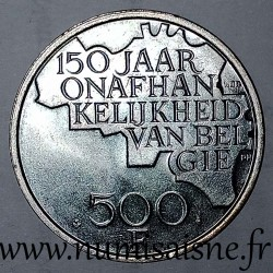 BELGIUM - KM 162a - 500 FRANCS 1980 - 150 YEARS OF INDEPENDENCE - DUTCH LEGEND