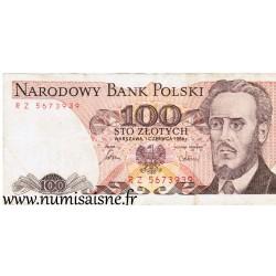 POLAND - PICK 143 e - 100 ZLOTYCH - 01/06/1986
