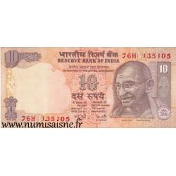 INDIA - 95 d - 10 RUPEES - 2007 - LETTER M