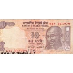 INDIA - PICK 95 k - 10 RUPEES - 2009 - LETTRE L