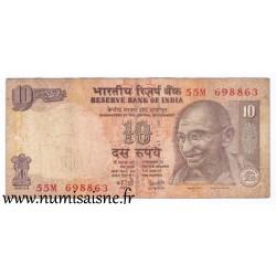 INDIA - PICK 95 c - 10 RUPEES - 2007