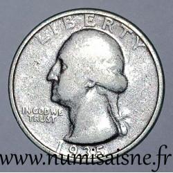 UNITED STATES - KM 164 - 1/4 DOLLAR 1935 - GEORGE WASHINGTON