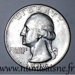 UNITED STATES - KM 164 - 1/4 DOLLAR 1946 - Philadelphie - GEORGE WASHINGTON