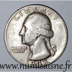 UNITED STATES - KM 164 - 1/4 DOLLAR 1948 D - Denver - GEORGE WASHINGTON