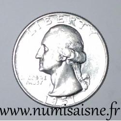 UNITED STATES - KM 164 - 1/4 DOLLAR 1951 - Philadelphie - GEORGE WASHINGTON