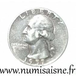 UNITED STATES - KM 164 - 1/4 DOLLAR 1957 - Philadelphie - GEORGE WASHINGTON