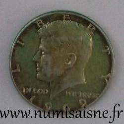 UNITED STATES - KM 202 a - 1/2 DOLLAR 1969 - Philadelphie - John Fitzgerald Kennedy