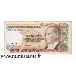 TURKEY - PICK 197 - 5 000 LIRA - L.1970 (1985)