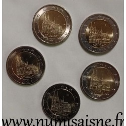 GERMANY - 2 EURO 2011 F - Mint marks A D F G J - WESTFALEN - Cologne Cathedral