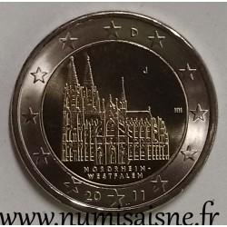 GERMANY - 2 EURO 2011 J - Hamburg - WESTFALEN - Cologne Cathedral