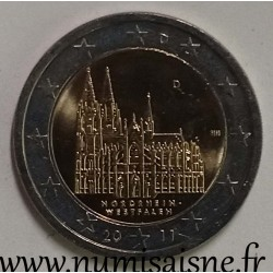 GERMANY - 2 EURO 2011 D - Munich - WESTFALEN - Cologne Cathedral