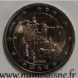 GERMANY - 2 EURO 2012 F - Stuttgart - BAYERN - Neuschwanstein Castle