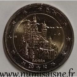 GERMANY - 2 EURO 2012 D - Munich - BAYERN - Neuschwanstein Castle