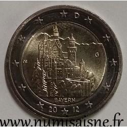 GERMANY - 2 EURO 2012 G - Karlsruhe - BAYERN - Neuschwanstein Castle