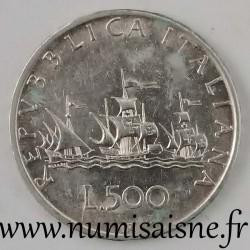 ITALY - KM 98 - 500 LIRE 1958