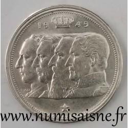 BELGIQUE - KM 139 - 100 FRANCS 1949 - DYNASTIE - Frappe décalée à 7h
