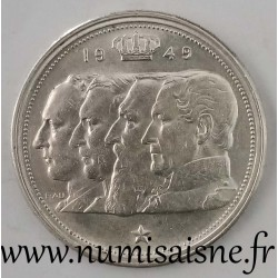 BELGIUM - KM 139 - 100 FRANCS 1949 - DYNASTY - Offset at 7 o'clock