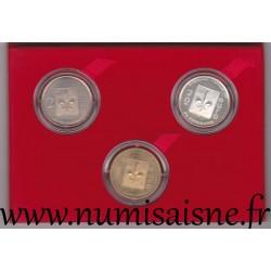 COFFRET EURO DES VILLES - SOISSONS - 1 EURO, 2 EURO ET 20 EURO 1997