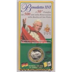 MEDAILLE - PAPE - BENOIT XVI - 500 ANS DE LA RENOVATION DE LA BASILIQUE SAINT PIERRE