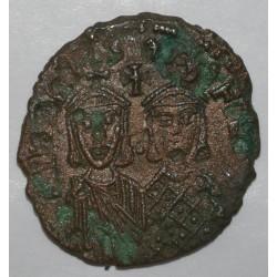 821 - 829 - MICHEL II ET THEOPHILE - FOLLIS - CONSTANTINOPLE - TRES BEAU +
