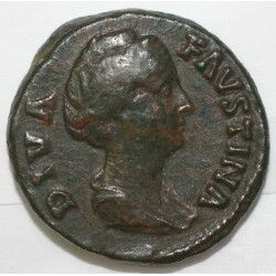 141 - FAUSTINE MERE - Moyen Bronze - R/AETERNITAS. SC. - TB +