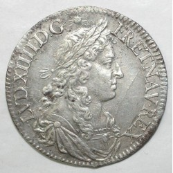 Gad 174a - LOUIS XIV - 1/2 ECU AU BUSTE JUVENILE - 1672 A - TTB +