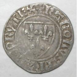 Dup 377 - CHARLES VI - BLANC GUENAR - 11 sept.1389 - PT ROUEN - TB+