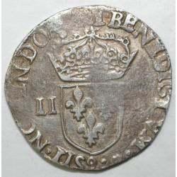 Dup 1133 - HENRI III - UN QUART D'ECU - 1582 9 - RENNES - TTB