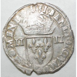 Dup 1133 - HENRI III - UN QUART D'ECU - 1584 NON CERTIFIE