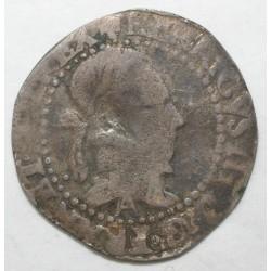 Dup 1131 - HENRI III - UN QUART DE FRANC AU COL PLAT- 1577 A - TB