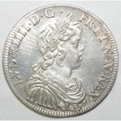 Gad 168 - LOUIS XIV - 1/2 ECU A LA MECHE COURTE - 1644 A ROSE - P. SUP