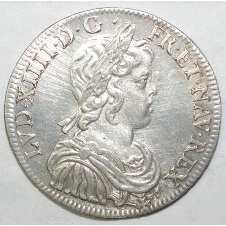 Gad 168 - LOUIS XIV - 1/2 ECU A LA MECHE COURTE - 1644 A ROSE - P. SUP
