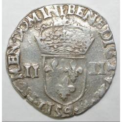Dup 1133 - HENRI III - UN QUART D'ECU - 1580 9 - RENNES - TTB