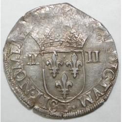 Dup 1133 - HENRI III - UN QUART D'ECU - 1584 T - TTB