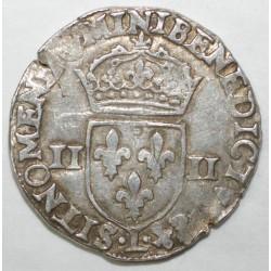 Dup 1133 - HENRI III - UN QUART D'ECU - 1584 L - TTB