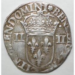 Dup 1133 - HENRI III - UN QUART D'ECU - 1585 - DATE NON CERTIFIEE