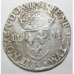 Dup 1133 - HENRI III - UN QUART D'ECU - 1582 9 RENNES - TTB