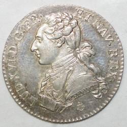FRANCE - Gad 354 - 1/5 ECU WITH DRESSED BUST - 1788 H - La Rochelle - LOUIS XVI