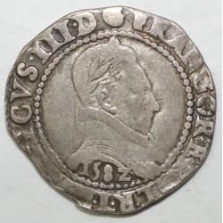 Dup 1130 - HENRI III - FRANC AU COL PLAT 1582 L